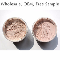 Hot sale cosmetics loose foundation powder / mineral makeup / hypoallergenic makeup, sunscreen