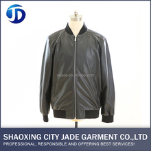 Factory Direct Sale High Quality Mens Leather Bomber Jacket