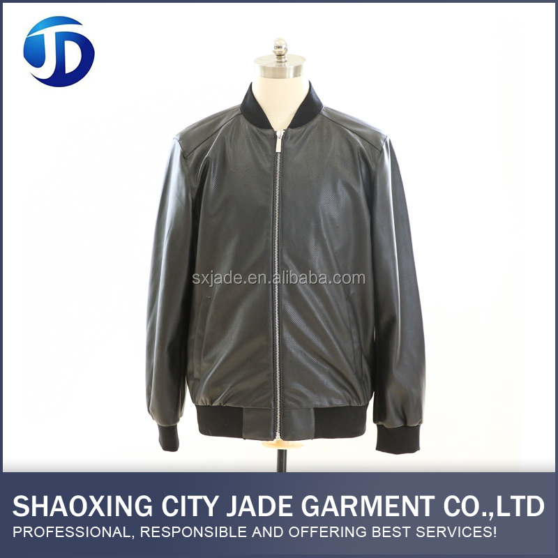 OEM ODM Service PU Factory Direct High Quality Mens Leather Bomber Jacket