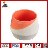Quality Modern Pink and White glazed ceramic decorative flower pots, Ceramic planter pots