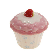 Light Pink Ceramic Cupcake Pot For Food