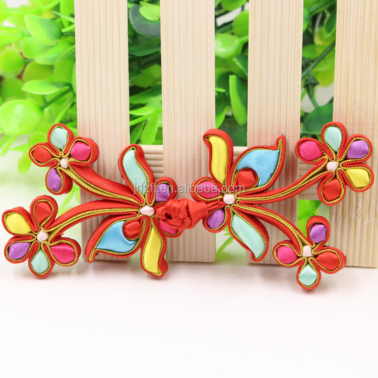 Hotsale Traditional Colorful Knot Chinese Frog Button
