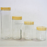 Eco Friendly Glass Storage Jar For