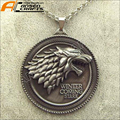 2017 New Game of Thrones House Stark Necklace Winter Coming Metal Pendant Gift