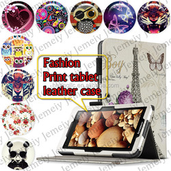 "For Acer ICONIA W510 10.1"" Tablets Printing Folding PU Leather Case Media Stand Folio Case Cover"