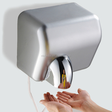 bathroom kitchen Stainless Steel brushed High Speed Hot hair dryer jet air Automatic Hand Dryer