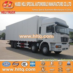 SHACMAN 8X4 30tons cargo van 270hp hot sale with high performance for export.