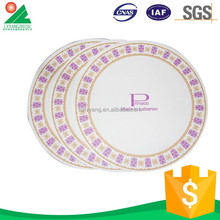 With Color Printed paper plate birthday