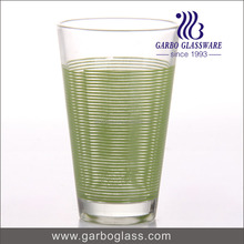 China Nanjing wholesale custom factory cheap OEM/ODM wholesale green 11oz printed glass cup for promotion drinking