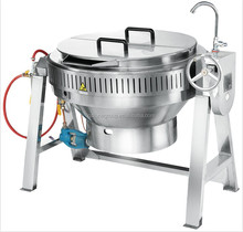 stainless steel steam heating boil soup jacketed pot cooking jacketed pan with stirrer