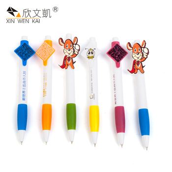 Novelty Products Promotional Custom Printing Pen Clip Plastic Personalised Ballpoint Pens