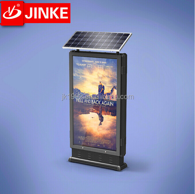 Publicity Solar Energy Outdoor Advertising Led lit Standing Light Box
