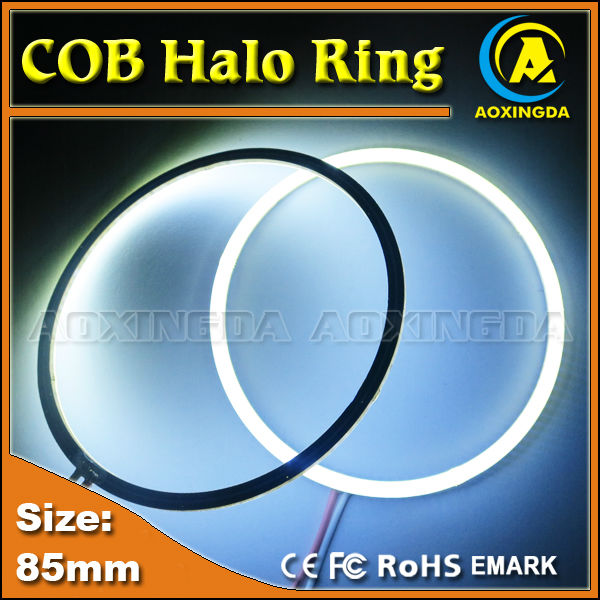 AC/DC 10~30V 85mm New hot White 85mm Angel Eyes 85 leds SMD Car Halo Ring Light