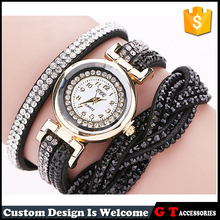 Wholesale High Quality Leather Watches Fashionable Lady Crystal Band Watch