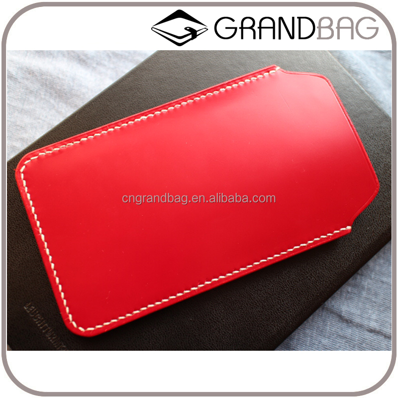 High Quality Genuine Leather Phone Sleeve,Smooth Leather Cell Phone Cover for iPhone 6 7 Plus,Waterproof Mobile Phone Purse
