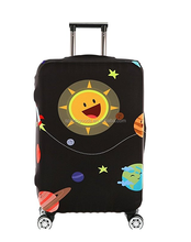 Custom luggage travel bags protective luggage cover with elastic luggage cover