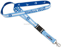 Markus Wolf logo printing lanyards with platic plate