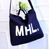 1CT0034 2017 Korean Women Cloth Shopping Bags Letter Printed Large Useable Canvas Tote Bag