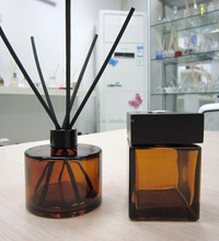 200ml amber aroma reed diffuser glass bottle with fiber stick