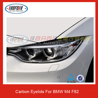 High Quality Auto Front Eyebrows M4 Carbon Fiber Eyelids For BMW F82 M4