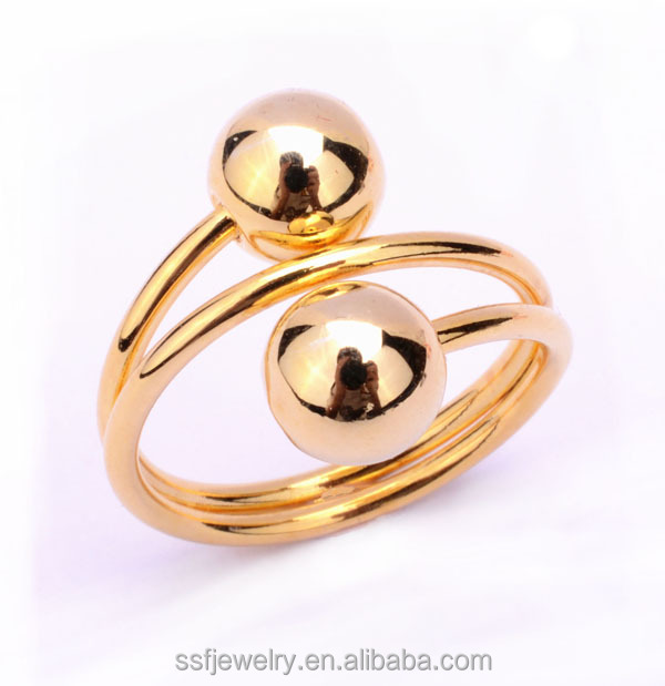 new small ball shape link jewelry copper alloy rings without stones