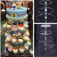 Acrylic 3 tier 5 tier cupcake stand round cupcake holder for wedding birthday party dessert display stand