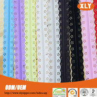 Bag accessories manufacturer lace tape nylon zipper for sale