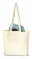China supplier promotional white cotton tote bag with customized sizes of handles