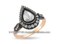 8K 14K 18K Gold Rose Cut Diamond Ring Classic Jewelry