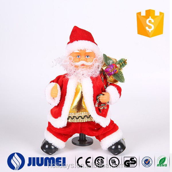 Beautiful fancy christmas electronic gifts singing Santa Clause soft plush christmas toys