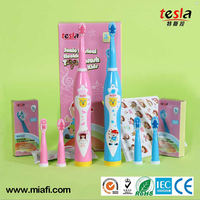 TESLA MAF8600M Sonic mini children electric toothbrush with double head
