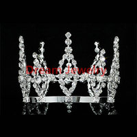 Flower Girl / Baby Crystal Full Circle Round Mini Crown Tiara Halloween Pageant Crowns