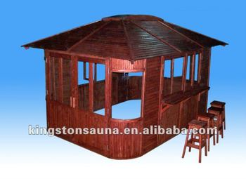Best Selling Wooden Outdoor Garden Bar Gazebo Pavilion