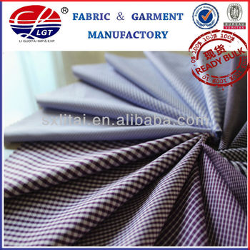 2013 fashion design combed cotton micro fiber plaid fabric