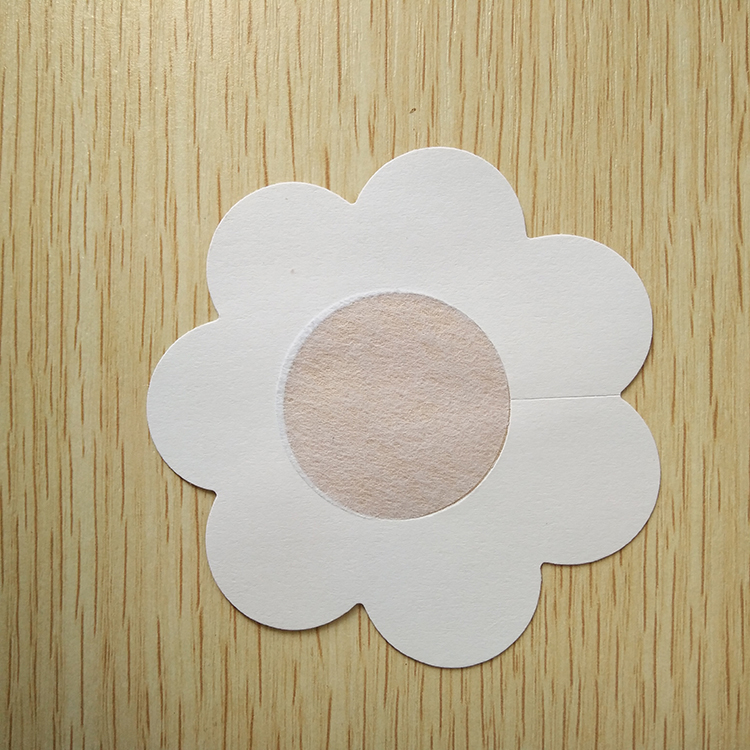 Satin Fabric Disposable Nipple Concealer Water Resistant Adhesive Breast Petals