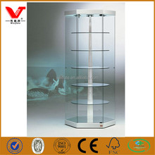 Shopping mall revolving freestanding tower display showcase for watch store exhibition