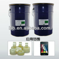 optical transparent silicon adhesive for films AR glass PET
