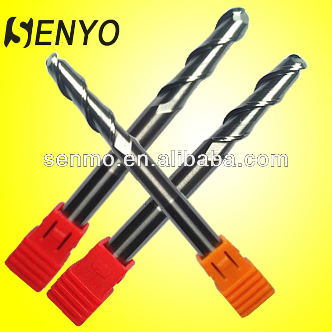 Senyo Tungsten Carbide Products For Cutting/2 Flute Round Nose End Mills/CNC Router Bits