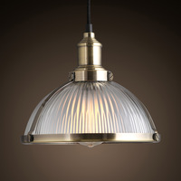 bronze metal vintage style glass pendant light for home , restaurant, office