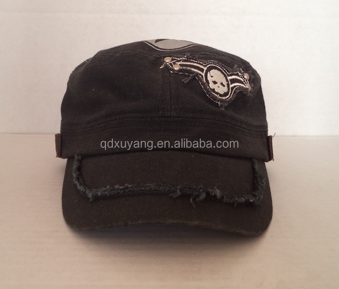 distressed army hat vintage military hat broken style