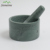 Deep Green Natural Marble Stone Mortar and Pestle