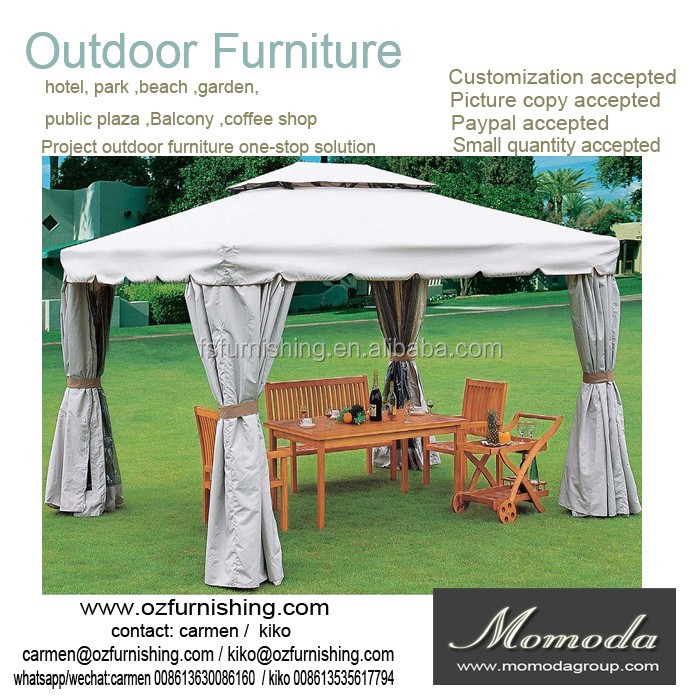 5007 Outsunny Outdoor 3 Person Patio Daybed Canopy Gazebo Swing, Tan with Mesh Walls
