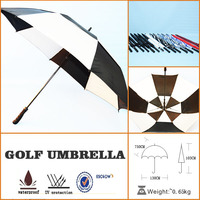 high-grade chinese crafts fiberglass ribs golf umbrella with customized logo printing