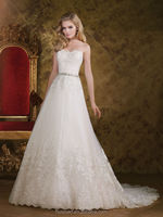 2015 vintage lace sleeveless bling wedding dresses ball gown