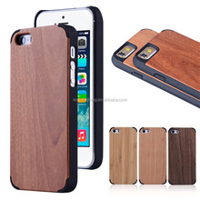100% Real Natural Wooden Cell Phone Case for Apple iPhone 5