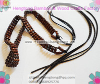 wood belt, wooden bead belt, bamboo shape beaded belt, women's belt