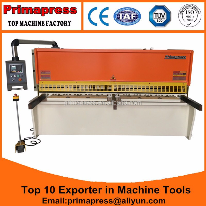 PrimaPress QC12y-6x3200 hydraulic shearing machine, 6x3200mm swing beam shear