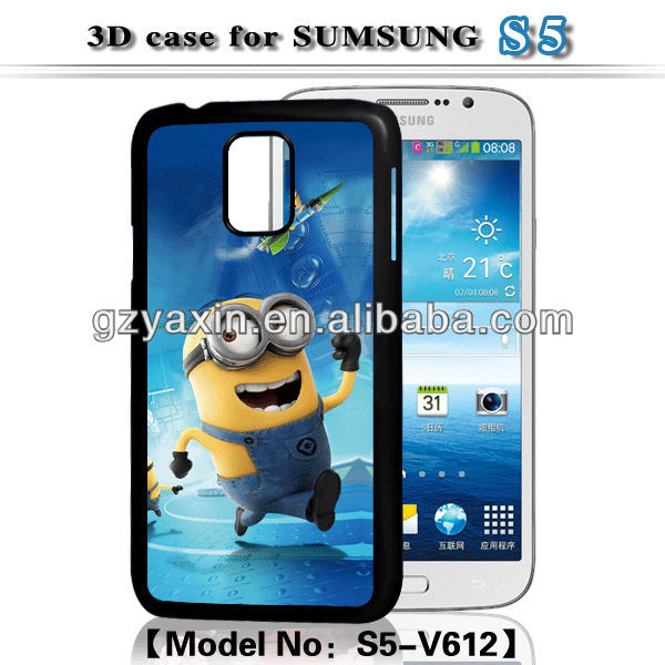 free sample 3d phone case for iphone ,black cover case for samsung Galaxy S5