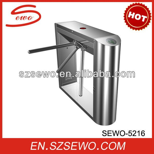 Rotary electronic pedestrian tripod turnstile gate with