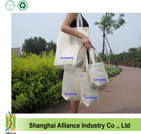 New style Natural Color Cotton Shopping Bag with silk screen printing